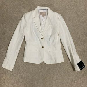 White Linen Banana Republic Blazer